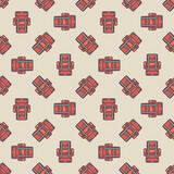 Touristic backpacks pattern Royalty Free Stock Photography