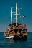 Touristic boat. Boat trip near Alanya - Turkey Stock Images