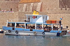 Touristic boat in Dubrovnik, Croatia Royalty Free Stock Images