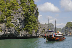 Touristic boat in Ha Long Bay Royalty Free Stock Images