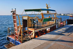 Touristic boat in Sevastopol Royalty Free Stock Images