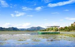 Touristic Boat in Skadar Lake National Park, Montenegro Royalty Free Stock Images