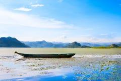Touristic Boat in Skadar Lake National Park, Montenegro Royalty Free Stock Photos