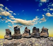 Touristic boots Royalty Free Stock Images