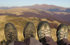 Touristic boots. Royalty Free Stock Image