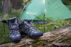 Touristic boots. Royalty Free Stock Images