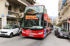 Touristic bus - Athens, Greece Royalty Free Stock Photo