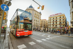 Touristic  bus in Barcelona Stock Images