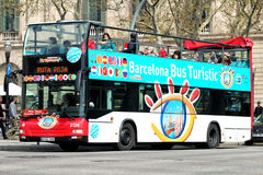Touristic bus in Barcelona, Spain. Royalty Free Stock Images