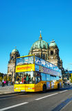 Touristic bus at Berliner Dom in Berlin Stock Images