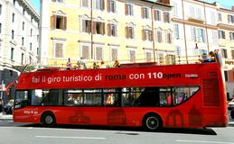 Touristic bus in Rome, Italy Stock Photo