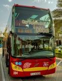 Touristic bus on street Stock Image
