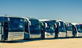 Touristic buses royalty free stock photos