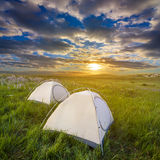 Touristic camp Stock Images