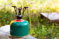 Touristic camping gas burner Stock Photography