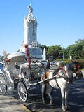 Touristic carriage in Buenos Aires. BUENOS AIRES - MARCH 30: Touristic carriage in the Palermo neighborhood on March 30, 2013 in Buenos Aires Royalty Free Stock Photo