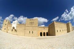 Touristic castle in La Goulette cruise terminal in Tunisia Royalty Free Stock Photo