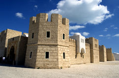 Touristic castle in La Goulette cruise terminal in Tunisia Stock Images