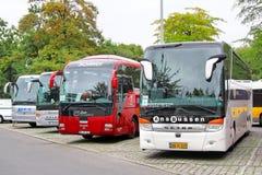 Touristic coaches stock image