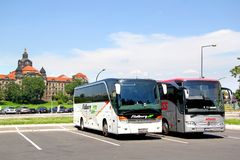 Touristic coaches Stock Images