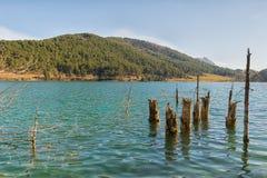 Touristic destination lake Doxa in Greece. Royalty Free Stock Photos
