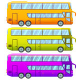 Touristic Double Decker Sightseeing Bus Collection Stock Photography