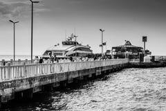 Touristic Ferry Dock Stock Photo