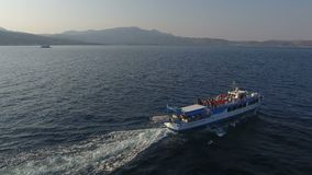 The touristic ferry Venus is traveling during summer. The touristic ferry Venus is traveling during the summer. It makes itineraries from Turkey to the Greek stock video