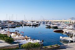 Touristic harbour stock photography