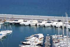 Touristic harbour Royalty Free Stock Images