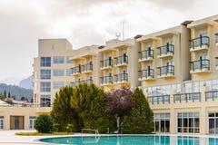 Touristic hotel in Kemer, Turkey stock photos