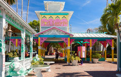 Touristic island in Caribbean sea attracting thousands of tourists every weekend. Bahamas Stock Photos