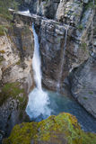 Touristic johnston canyon Royalty Free Stock Images