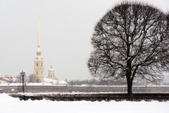 Saint Petersburg Peter Paul fortress Stock Images
