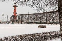 Saint Petersburg rostral column landmark Royalty Free Stock Image