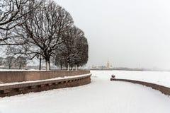 Saint Petersburg Vasilievsky Island Spit Stock Photos