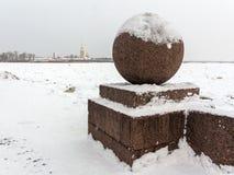 Saint Petersburg Vasilievsky Island Spit Royalty Free Stock Image
