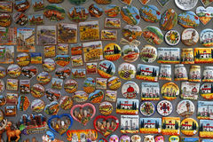 Touristic magnets Royalty Free Stock Image
