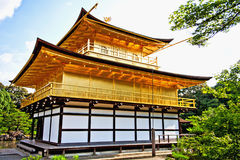 Kinkakuji Gold Pavilion front shooting view Royalty Free Stock Photos