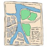 Touristic map Stock Image