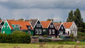 Touristic Marken village Netherlands Royalty Free Stock Photo