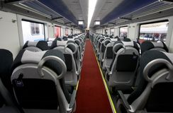 Touristic passenger train interior Royalty Free Stock Photography