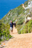 Pathway in the nature. Touristic pathway in the nature near to Cape point in South Africa Royalty Free Stock Photography