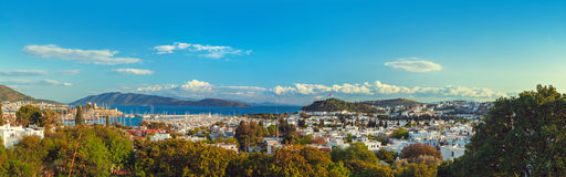 Touristic place Bodrum town in Turkey Royalty Free Stock Photos