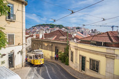 Touristic place in downtown Lisbon, Portugal, Europe Stock Photos