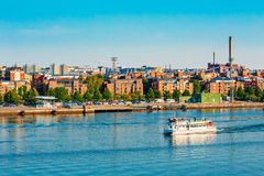 Touristic Pleasure Boat Near Harbour Of Helsinki, Finland Stock Images