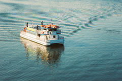 Touristic Pleasure Boat Near Harbour Of Helsinki, Finland Stock Photography