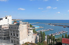 The touristic port of Constanta city Royalty Free Stock Photo