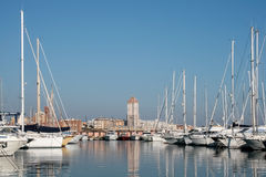 Touristic port i södra Italien royaltyfri foto