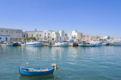 Touristic Port of Monopoli. Apulia. Stock Image